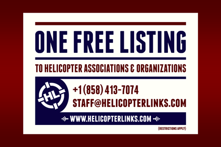Helicopter Links offers one free listing and media partnerships to helicopter association and organizations.