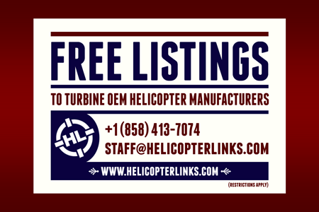 Helicopter Links offers multiple free listing for each unique URL address for turbine OEM helicopter manufacturers.