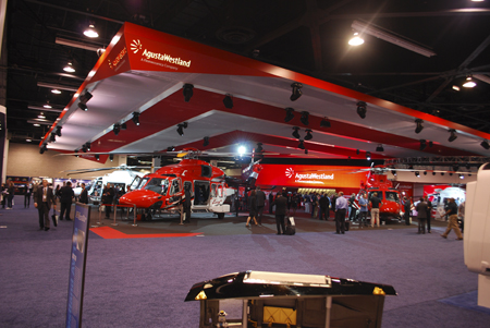 AgustaWestland trade show booth at Heli-Expo 2014.