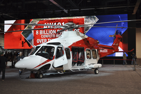 AgustaWestland AW139 on display at Heli-Expo 2013.