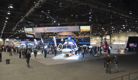 Eurocopter trade show booth at Heli-Expo 2013. (Name changed to Airbus Helicopters, January 1, 2014).