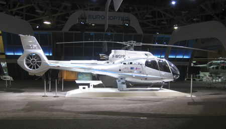 Eurocopter EC130 T2 on display at Heli-Expo 2013.