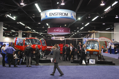 Enstrom trade show booth at Heli-Expo 2014.