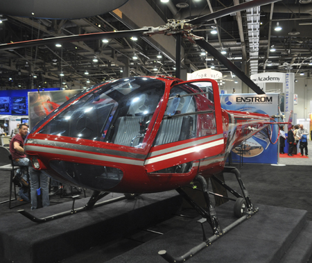 Enstrom 280FX helicopter at Heli-Expo 2013.