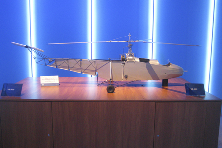 Scale model of the Vought-Sikorsky VS-300 at Heli-Expo 2013.
