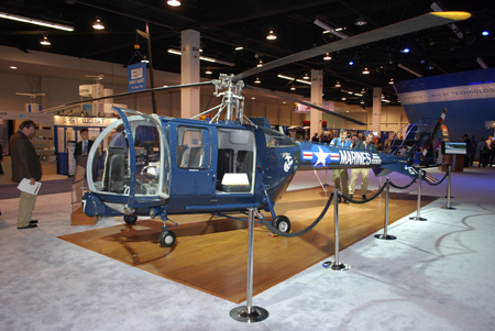 Restored Sikorsky S-52 helicopter on display at Heli-Expo 2014.
