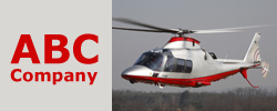 Helicopter Links' Quarter Banner Ad Example, 250 W X 100 H - pixels